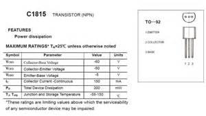 c1815 transistor applications c1815 silicon npn epitaxial transistor self sufficiency