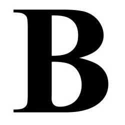 Large Letter Wall Stickers quot the letter b in black times new roman serif font typeface