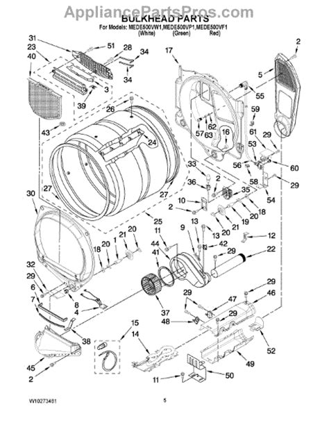 maytag bravos dryer parts diagram parts for maytag mede500vw1 bulkhead parts