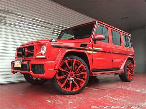 mercedes g wagon red this red g class by office k is all kinds of obnoxious