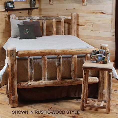 log bed kits twist of nature rustic timberjack pine log bed kit