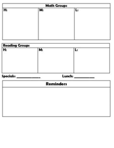 simple 2nd grade lesson plan template editable by