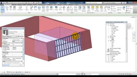 how to create a curtain wall in revit revit 2014 sloped curtain wall youtube