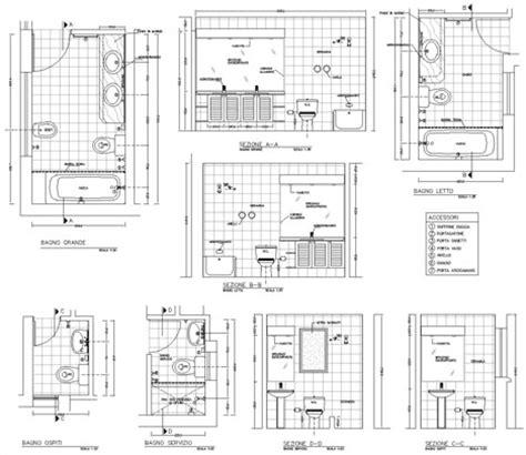disegni di bagni piccoli bagni completi progetti di bagni cad dwg