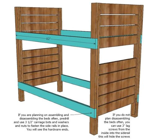 2x4 Bunk Beds White Build A Side Bunk Beds Free And Easy Diy Project And Furniture Plans