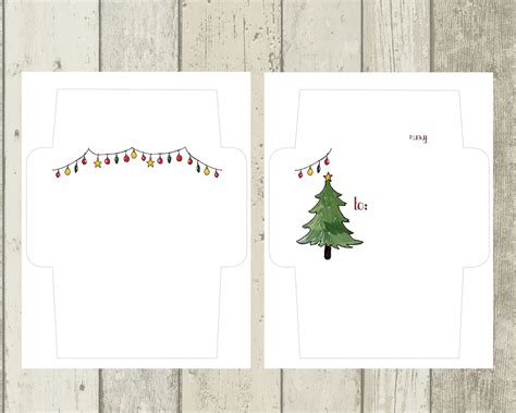 printable christmas cards envelopes holiday mail art envelope templates the postman s knock
