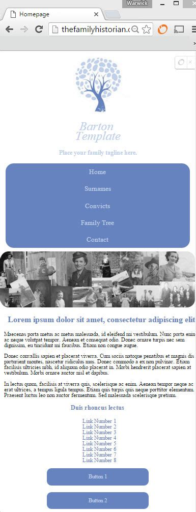 Barton Family History Website Template An Australian Family History Perspective Family Genealogy Website Templates