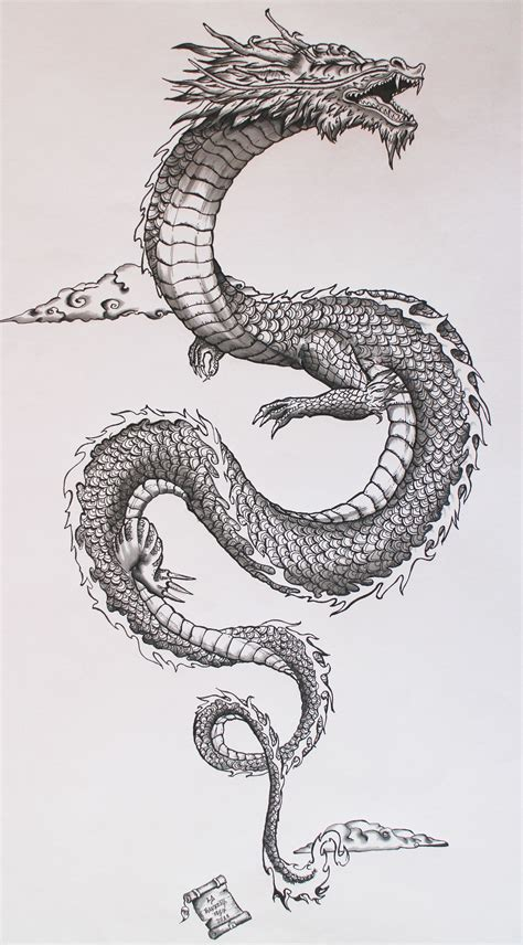 traditional dragon tattoo my personal interpretation of the traditional japanese