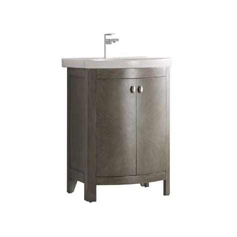Silver Bathroom Vanity Fresca Niagara 24 In W Traditional Bathroom Vanity In Antique Silver With Vanity Top In White