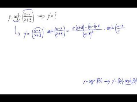 derivada de coseno cuadrado derivada coseno hiperb 243 lico youtube