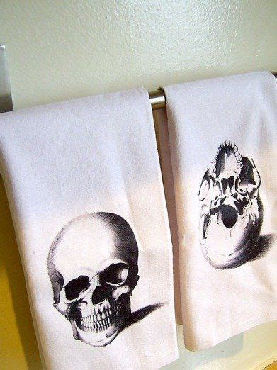 Skull Bathroom Set Decorative Skulls Towels And
