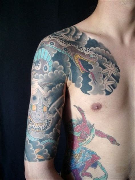 yakuza tattoo half sleeve demons and dragons yakuza style tattoo tattooimages biz
