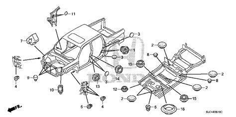 honda ridgeline parts diagram honda store 2007 ridgeline grommet fr parts