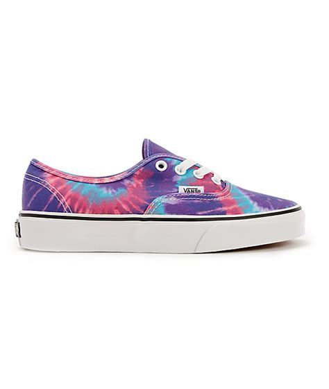 Vans Authentic Tie Dye Color vans authentic purple tie dye shoes zumiez