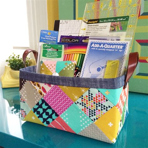 pattern making material sturdy fabric basket tutorial lillyella