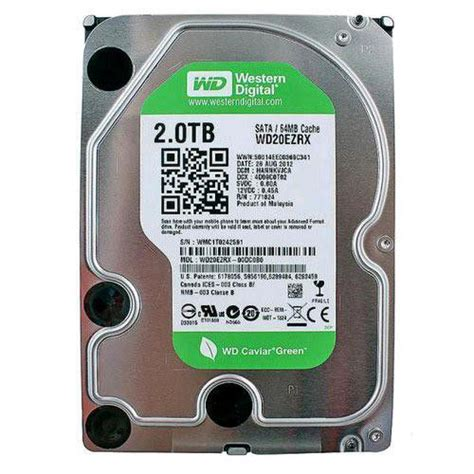 Hardisk Wd 2tb western digital wd desktop green 3 5 inch drive 2tb