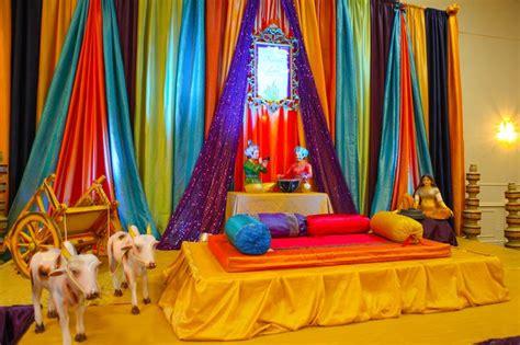 drapes for party decor lohri party decor stage decor pinterest colorful