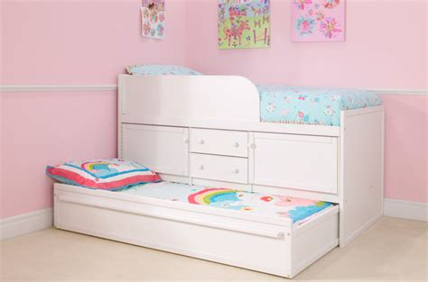 white sleepover bed with storage cbc
