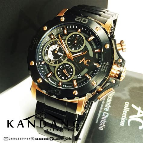 Alexandre Christie Ac 6410 Gold Black Rantai jual alexandre christie ac collection 9205mc black