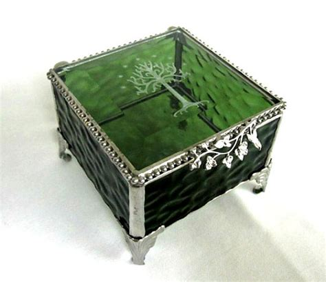 lord of the rings the hobbit inspired ring bearer box