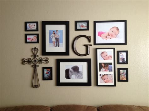 photo frame ideas amazing wall picture collage ideas with metal ornament and