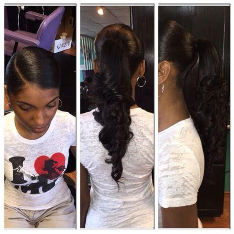slick back weave hair stylea best 25 weave ponytail ideas on pinterest long ponytail