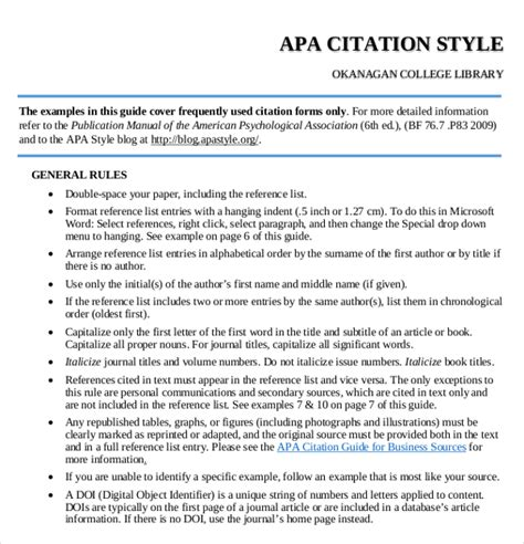 citation template exle citation apa format cover letter templates