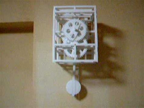 How To Make A Clock With Paper - paper pendulum clock