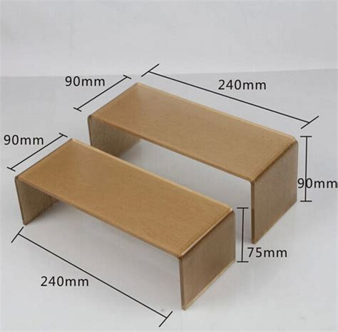Rak Acrylic Display 4 high quality gold color acrylic display stand shoe rack shoe holder jewelry display stand wallet