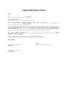 Sle Letter From Landlord To Tenant by Property Sold Notice To Tenant Hashdoc