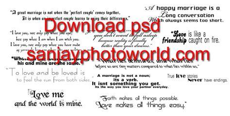 Wedding Album Quotes Psd sanjay photo world wedding psd text wording vol 01