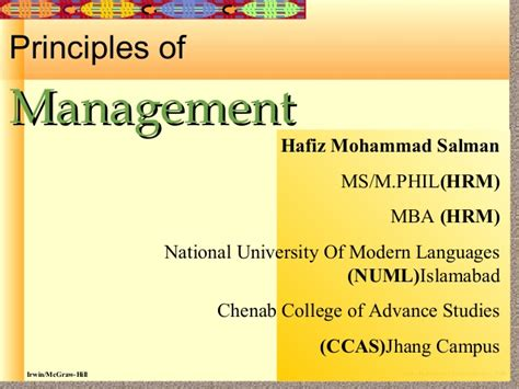Mba Principles Of Management by Introduction To Principles Of Management