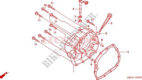 crankcase cover  honda xr   electric start  honda motorcycles atvs genuine