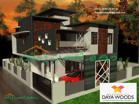 kerala home design in 5 cent 1840 square 3 bedroom kerala contemporary house