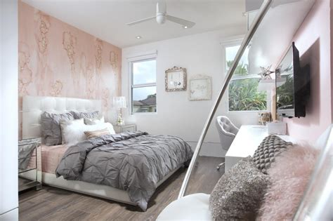girls bedroom accent wall gray room pink accent wall sweetened teenage girls bedroom design displaying