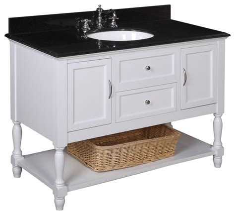 beverly 48 in bath vanity black white farmhouse