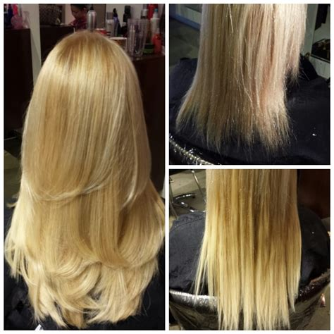 haircut blend extensions before and after individual keratin hair extensions and