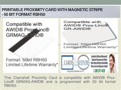 Credit Card Magnetic Format Printable Proximity Card With Magnetic Stripe
