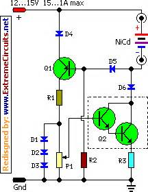 how to build nicd battery charger with reverse polarity