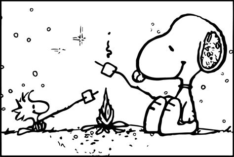snoopy coloring pages snoopy cing coloring page wecoloringpage