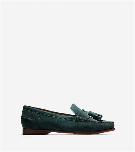 cole haan tassel loafers lyst cole haan s pinch grand tassel loafer in green