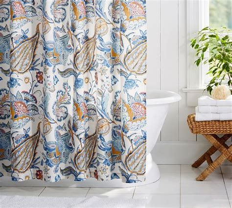 shower curtains pottery barn merion palore shower curtain pottery barn