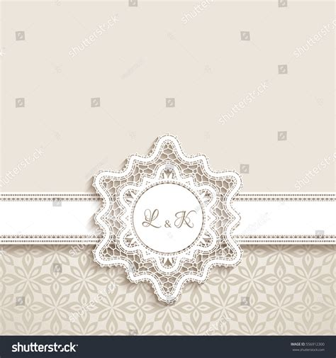 paper lace templates card vintage greeting card cutout paper lace stock vector