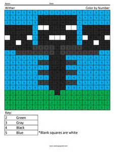 minecraft color by number free coloring pages of minecraft wither