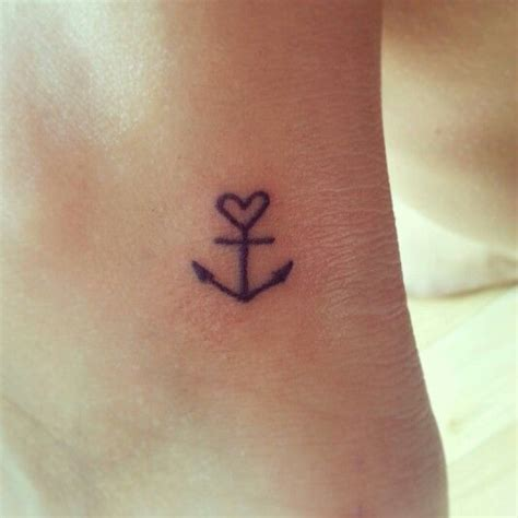 anchor heart ankle tattoo tatttooos pinterest i am