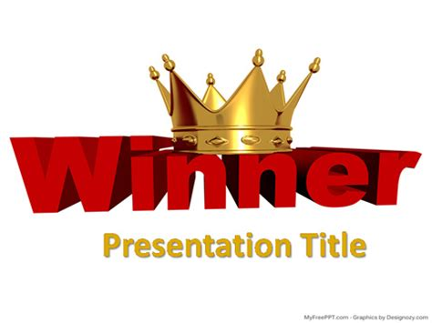 Free Ppt Templates For Winners | free golden crown powerpoint templates myfreeppt com