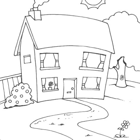 house coloring picture