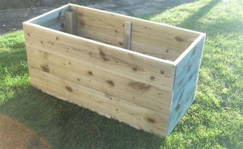 Wooden Garden Planters Large by Large Wooden Garden Planters Raised Bed Ebay