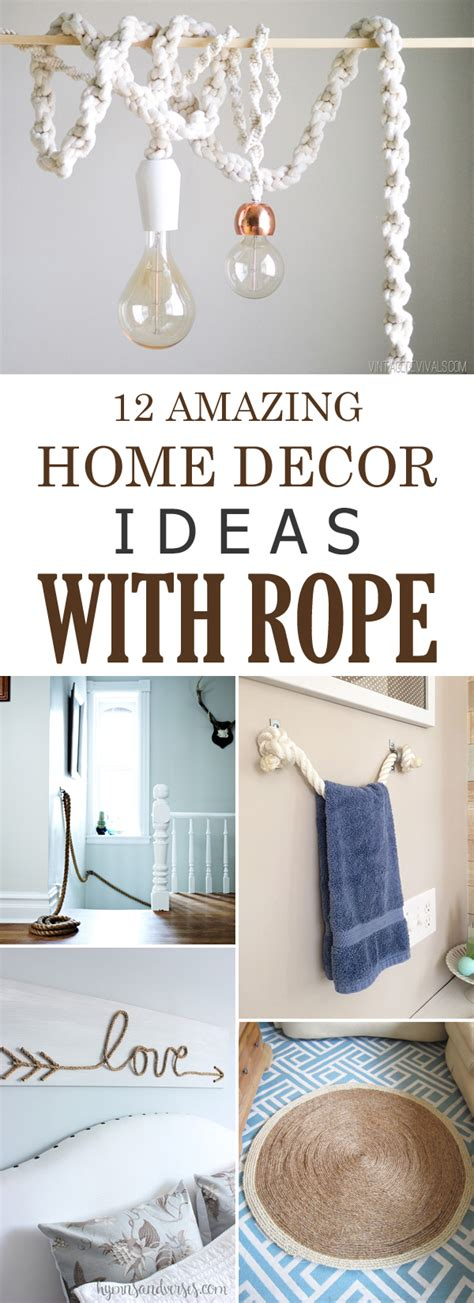 Amazing Home Decor by 12 Amazing Diy Home Decor Ideas With Rope