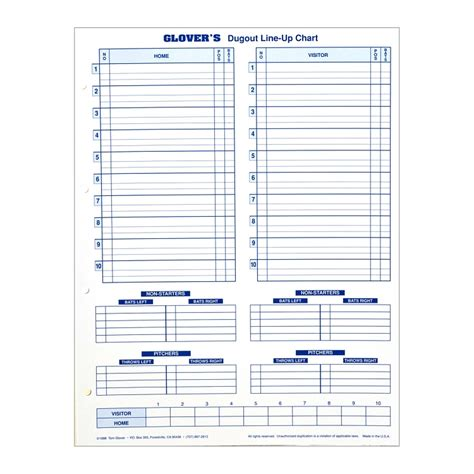 official soccer lineup card template t 0316 s dugout line up charts